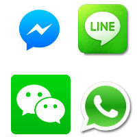 Asian messaging apps make dollars per user, American apps make cents