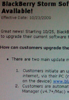 UPDATED:Firmware OS upgrade available Sunday for BlackBerry Storm? No OTA upgrade for 5.0.0.328