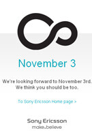 The Sony Ericsson XPERIA X3 will be officially announced on 3 November?