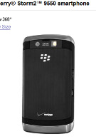BlackBerry Storm2 9550 makes it to Verizon's web site; Buy one, get one free