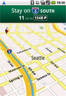 Google Maps Navigation is a free, voice navigation app for Android 2.0
