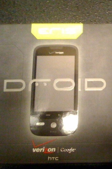 Verizon stores receiving shipments of Motorola Droid and HTC Droid Eris