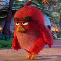 Ad for the Angry Birds Movie now playing on a television set near you