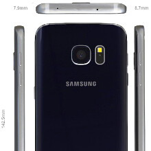 Galaxy S7 CAD-based renders reiterate a thicker, more rectangular design, and a tapered back