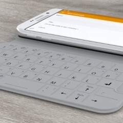 The SlimType cover turns your Samsung Galaxy S6 or S6 edge into a QWERTY smartphone
