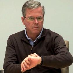 """Jeb Bush vs Apple Watch: """"My watch can't be talking!"""""""