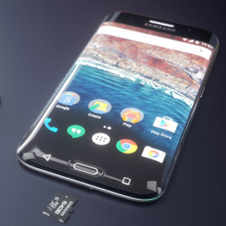 This wild Samsung Galaxy S7 Edge concept dreams of a phone with a triple curve, microSD card slot