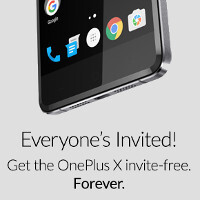 The OnePlus X is now permanently invite-free