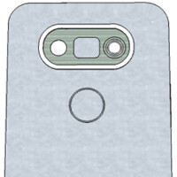3D render of LG G5 model surfaces with 5.6-inch, 2K resolution screen and dual cameras on back