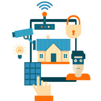 Infographic - 10 great and free home security apps recommended by a specialist in the field