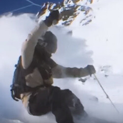 Watch this hypnotizing 360-degree slo-mo extreme skiing video shot on iPhone