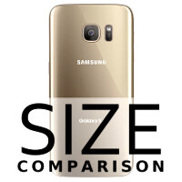 Samsung Galaxy S7 size comparison vs Galaxy S6, iPhone 6s, 6s Plus, LG G4, others