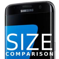 Samsung Galaxy S7 edge size comparison vs Note 5, 6s Plus, Nexus 6P, and others