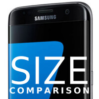 Samsung Galaxy S7 edge size comparison vs Note 5, 6s Plus, Nexus 6P, and others