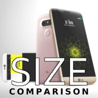 LG G5 cometh: here is a size comparison with the Galaxy S6, iPhone 6s, LG G4, and others