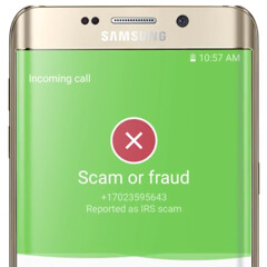 Samsung Galaxy S7 and S7 edge feature spam detection and caller identification services from Whitepages