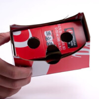 Turn your recycled Coke cardboard packaging into a VR viewer