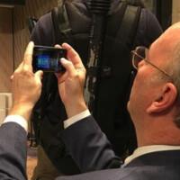 Alphabet executive chairman Eric Schmidt caught using an Apple iPhone