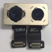Various images of the dual camera module for the Apple iPhone 7 Plus surface