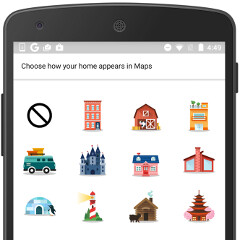 Google Maps for Android updated with custom location stickers