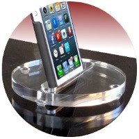 5 useful and convenient acrylic coasters, stands, and wall mounts for smartphones and tablets