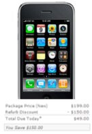 Refurbished iPhone 3GS now only $49 for today