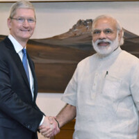 Tim Cook meets with India's Prime Minister to discuss Apple's future in the country