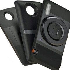 New Motorola Droid (Z) pictured alongside MotoMod swappable rear covers