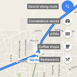 Google Maps Android update expands search-along-route, adds popular-place notifications