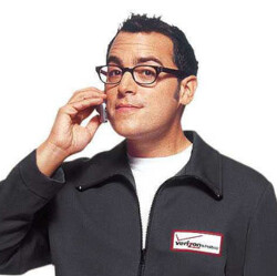 """Verizon's """"Can you hear me now?"""" pitchman is now with Sprint"""