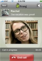 Fring offers video phone calls on the iPhone
