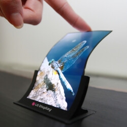 Samsung purported to reveal new Galaxy smartphones with flexible screens at MWC 2017