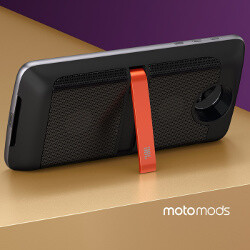 The JBL SoundBoost add-on for the Moto Z/Z Force cranks up the volume, adds an extra battery and kickstand