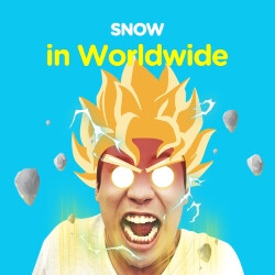 SNOW! is a fun messenger app for instantly exchanging silly face videos, photos, and GIF animations