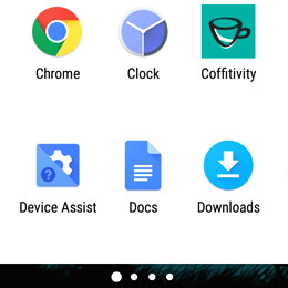 Android: How to change your app drawer scrolling orientation