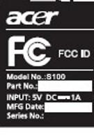 Acer Liquid spills on the FCC