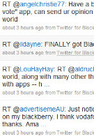 Has RIM's Twitter for BlackBerry client sent out its first tweets?