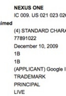 Google files trademark application for Nexus One