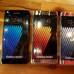Note 7 unboxed, 4GB/64GB confirmed, gold, black and gray versions shown