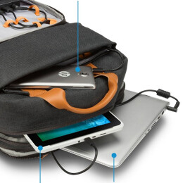 This smart HP backpack will charge your phone (up to 10 times), tablet, and laptop