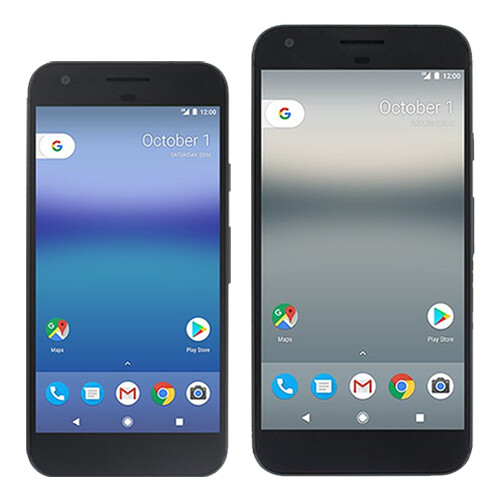 Google Pixel and Pixel XL sized up against each other and ...
