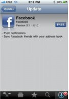 Push notifications finally makes it way on Facebook 3.1 for the iPhone