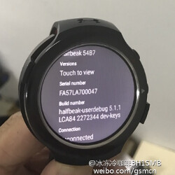 """Photos of HTC's unannounced Android Wear powered """"Halfbeak"""" smartwatch are leaked"""