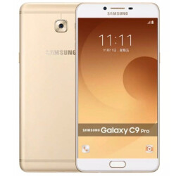 Images of the Samsung Galaxy C9 Pro appear with specs in tow