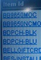 RIM BlackBerry Tour 2 9650 found in Verizon's system