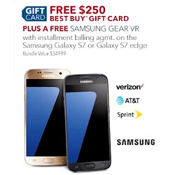 BestBuy and Walmart Black Friday ads leak - $250 gift cards with a Galaxy S7 or S7 edge