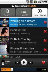 Updated Grooveshark works better then before with Android