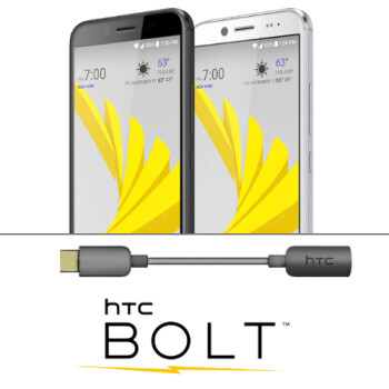 HTC is now offering free USB-C to 3.5mm adapters to all Bolt owners