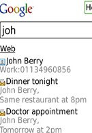 Latest Google Mobile App for BlackBerry enables contacts and email search