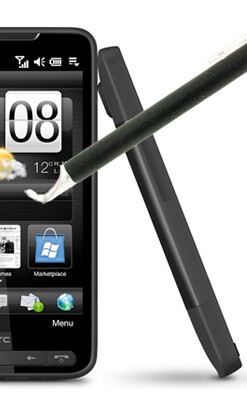 HTC HD2 receives a capacitive stylus